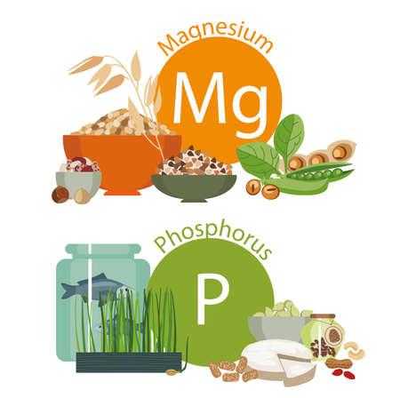 """Infographie """"Aliments pour la santé"""". Vecteurs"""