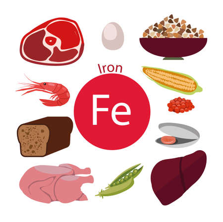 Products rich with iron. Bases of healthy food. natural organic products. Healthy lifestyle