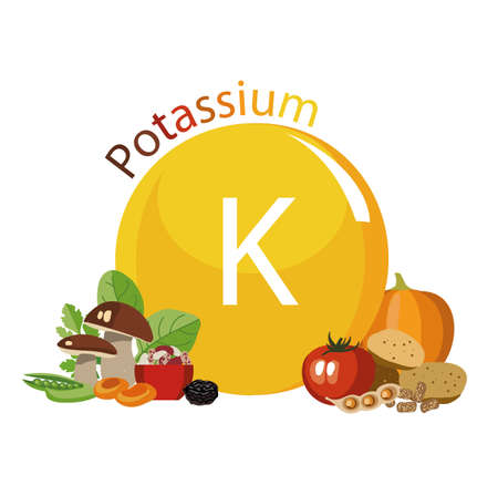 Products rich with potassium