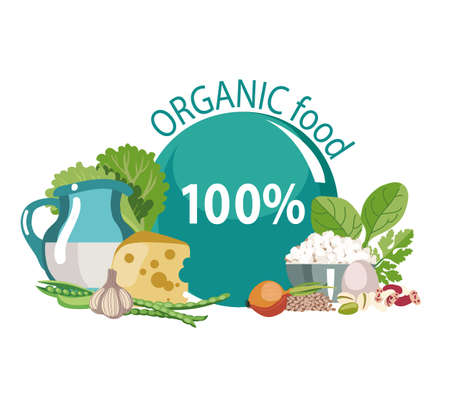 Organic natural food. A balanced diet rich in vitamins and microelements. Healthy lifestyle.