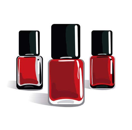 Nail polish bottle 3d design isolated