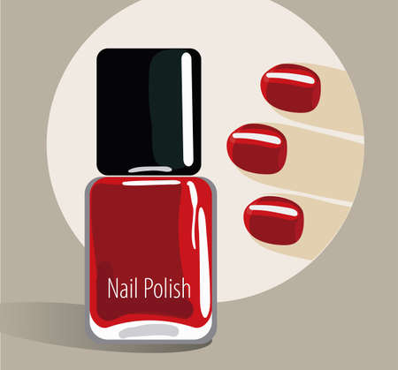 Nail polish bottle with fingers 3d design