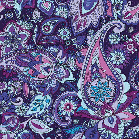 A Seamless pattern based on traditional Asian elements Paisley.