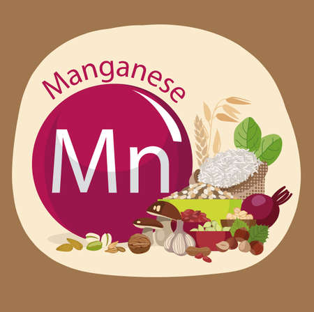 Manganese. Food sources. Natural organic products with a high content of manganese. Healthy Eating