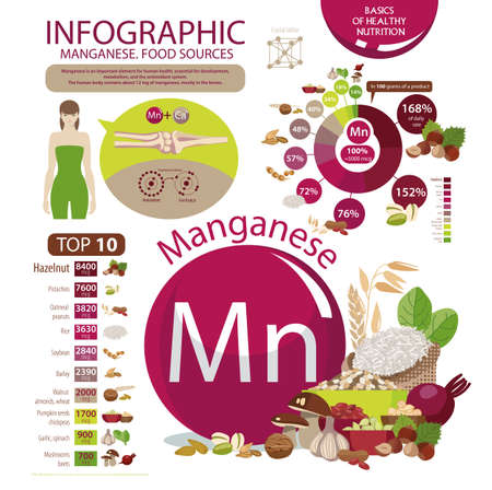 manganese infographic Vector illustration. Ilustrace