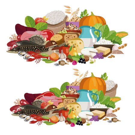 Composition from natural useful products 100% organic. The basis of a healthy diet.