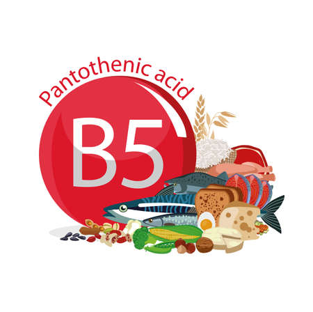 Vitamin B5 (Pantothenic acid). Food sources. Natural organic products with the maximum vitamin content.