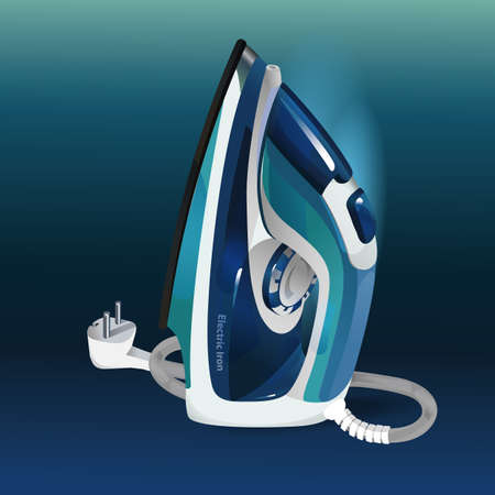 Modern electric iron with steam function 向量圖像
