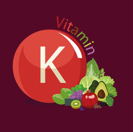 Vitamin K Natural organic vegetables and fruits, with the highest content of vitamin K. Reklamní fotografie - 94607696