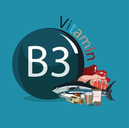 Vitamin B3 Foods with the maximum vitamin content.