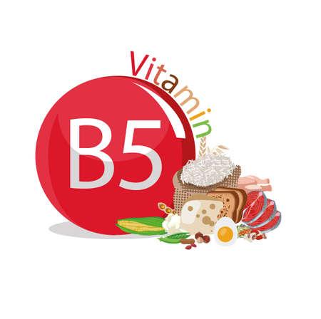 Vitamin B5 Natural organic products with a maximum content of vitamin B5.