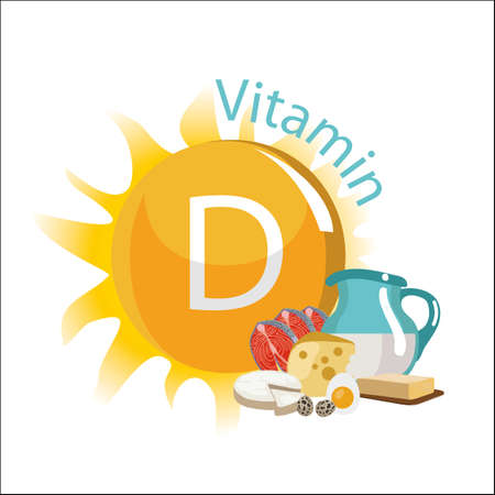 vitamin d illustration. Vectores