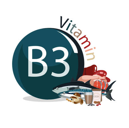 Vitamin B3 Foods with the maximum vitamin content. dietary nutrition