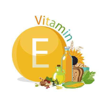 Vitamin E Natural organic products with the maximum content of vitamin E.