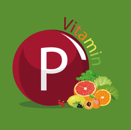 Vitamin P (flavonoids). Natural organic products (fruits, greens, berries) with the highest content of vitamin P.