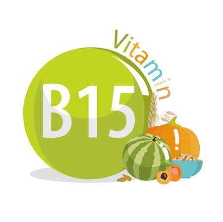 Vitamin B15 (Pangamic acid). Natural organic products (vegetables, fruits) with the highest content of vitamin B15.