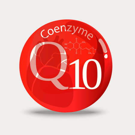 Coenzyme q10 A substance for maintaining cardiac activity. Basics of a healthy lifestyle. Ilustracja