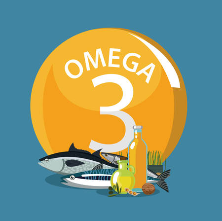 Omega 3 Polyunsaturated fatty acids Natural organic food with high omega-3 content Fundamentals of healthy nutrition.