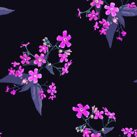 Forget-me-nots. Seamless background with a flower pattern