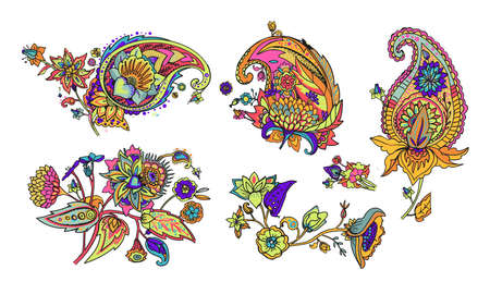 Paisley. A pattern based on the traditional oriental paisley pattern or Turkish cucumber. Fabric, wallpaper, background