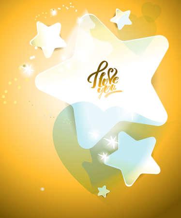 Starry background. Radiance Иллюстрация
