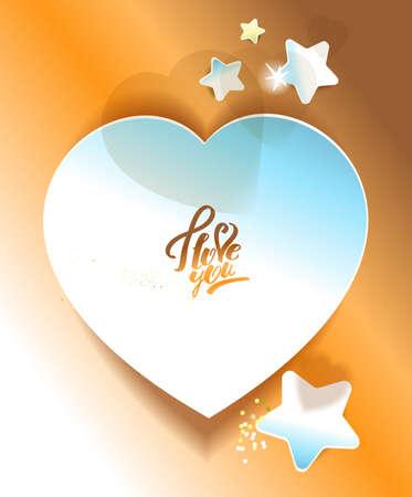 Heart shaped sticker. Gold Reklamní fotografie - 129767634