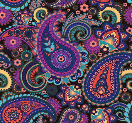 Paisley pattern. Seamless oriental pattern based on vintage motifs. Vetores