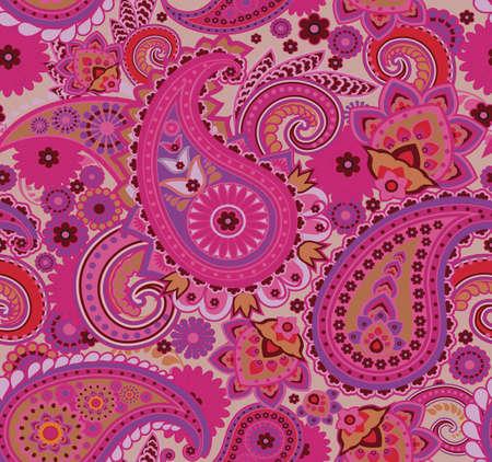 Paisley pattern. Seamless oriental pattern based on vintage motifs.