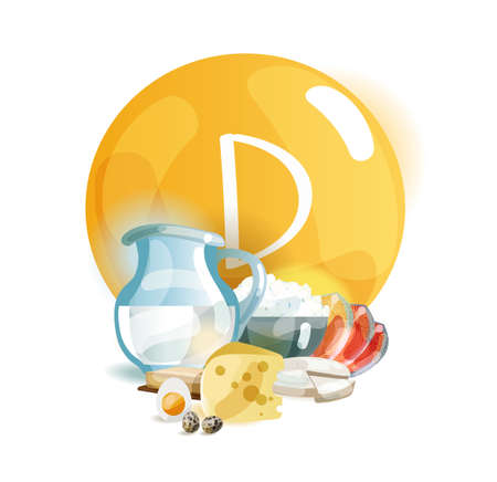 Vitamin D in food. Natural organic products with a high content of Vitamin D. Healthy nutrition as the basis of a healthy lifestyle.
