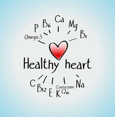 A healthy heart is the essential trace elements (vitamins and minerals) that are necessary for heart health. Scheme
