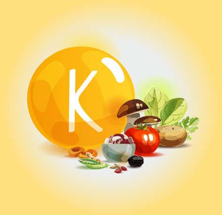 Potassio negli alimenti. Prodotti biologici naturali ad alto contenuto di potassio. Una sana alimentazione come base di uno stile di vita sano.