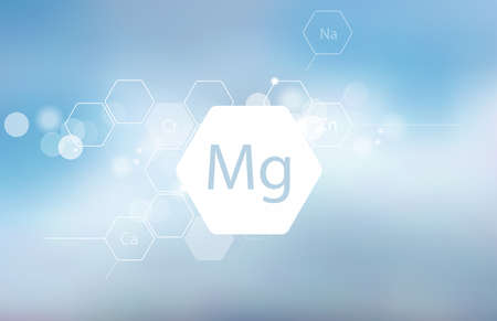 Magnesium. Scientific research. Trace Elements . Abstract Composition Ilustracja