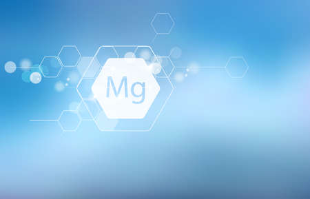 Magnesium. Scientific research. Trace Elements Abstract Composition Illustration
