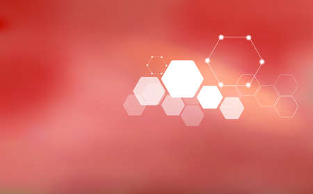 Abstract background in modern style with polygonal elements. Medicine, science, high technology