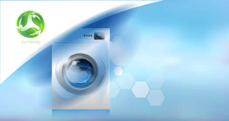 Washer. Modern household appliances and environmental care.