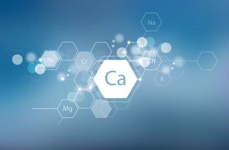 Calcium and other essential minerals for human health. Çizim