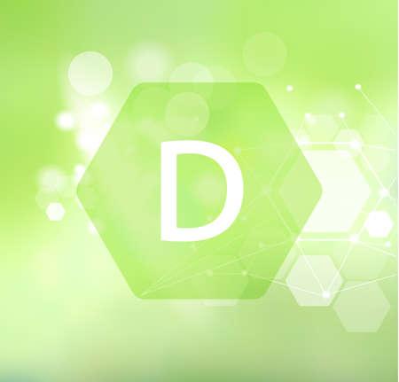 Vitamin D Abstract green