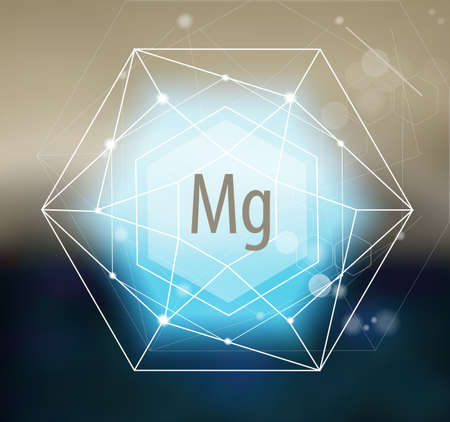 Magnesium. Modern scientific research. Abstract structural network. The future is science. Chemistry, physics, medicine.