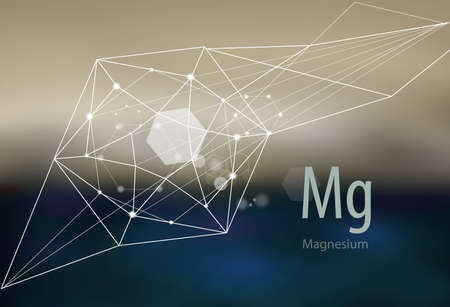 Magnesium. Modern scientific research. Abstract structural network.