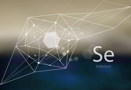 Selenium. A series of trace elements. Modern style, abstract  with polygonal elements.