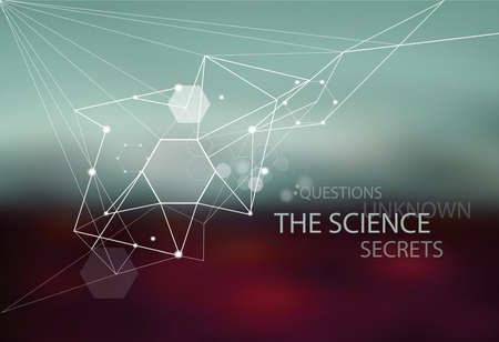 Science: discovery, research, information Abstract structural composition on a blurred background. Иллюстрация