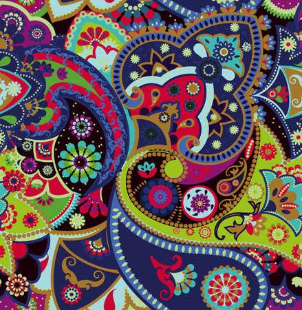 Motif géométrique sans couture dans un style oriental. Motifs cachemire traditionnels. Textiles et papiers peints.