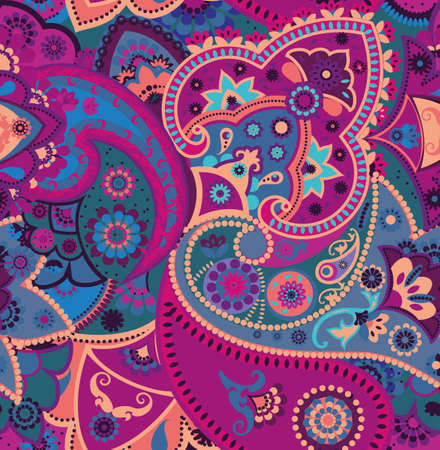 Seamless geometric pattern in oriental style. Traditional paisley motifs. Textiles and wallpaper.