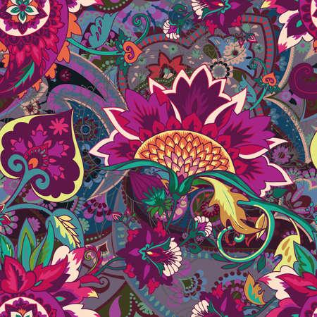 Motif floral sans couture. Motif traditionnel de style cachemire oriental vintage. Textiles et papiers peints.