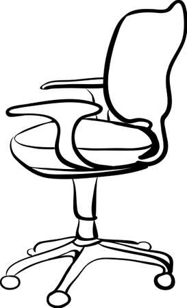 office chair sketch linear isolate vector illustration Vector