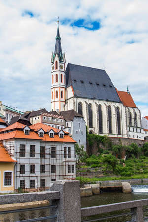 Church of St. Vitus in the Gothic style in Cesky Krumlov photo