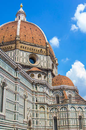 dome building: building and the dome of Santa Maria del Fiore in Florence Stock Photo