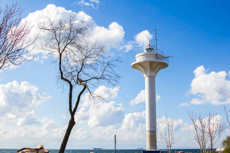 the marmara: observation tower on the shore of the Sea of Marmara in Istanbul