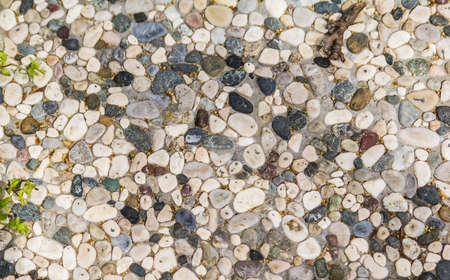 trampled: background texture walkway lined with small colorful stones