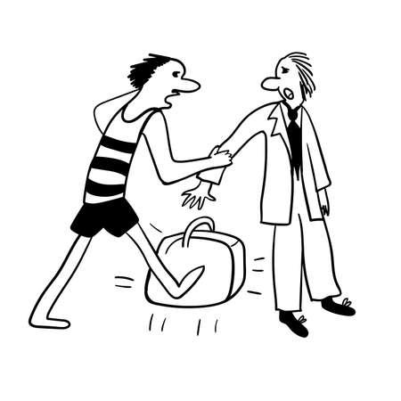 business suit: impostor in a business suit, comic illustration Illustration